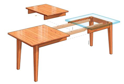 Diy Extendable Dining Table | extension dining table finewoodworking