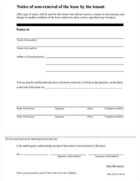 letter template tenancy termination 15 tenancy termination letters pdf word sle templates