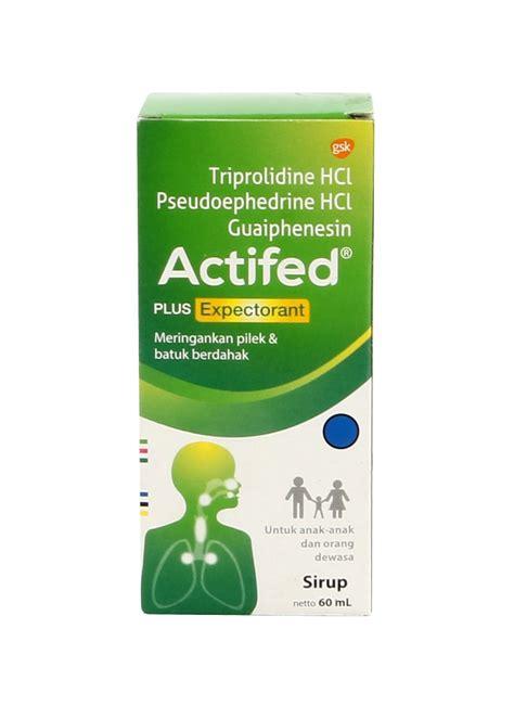 Obat Actifed actifed syrup pilek batuk berdahak btl 60ml klikindomaret