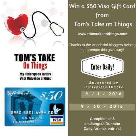 50 Visa Gift Card Giveaway - unitedhealthcare 50 visa gift card giveaway 9 30