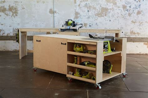 ryobi work bench ana white ultimate roll away workbench system for ryobi