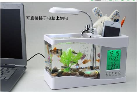 Lu Led Aquarium Mini 2018 multifunctional usb fish tank turtle tank usb