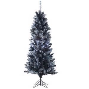 northlight 6 ft pre lit black tinsel slim artificial
