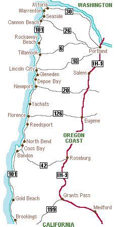 map of oregon coast cities central oregon map