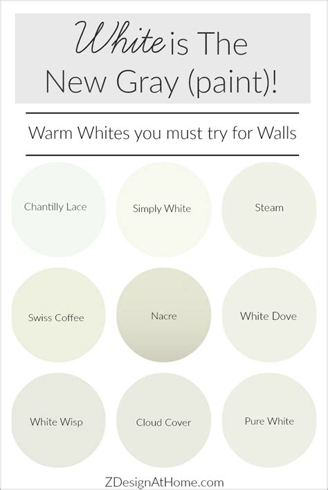 best warm white paint color white is the new gray paint white paints benjamin moore and house