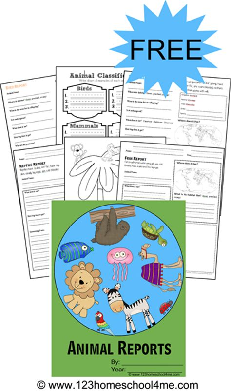 free printable animal report free animal report printables