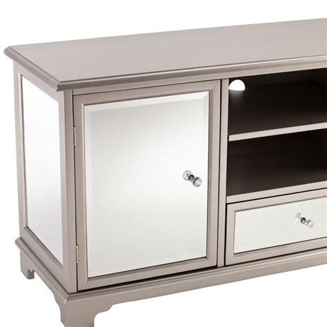 Mirrored Tv Cabinet Living Room Furniture by Southern Enterprises Mirage 52 Quot Mirrored Tv Media Stand In