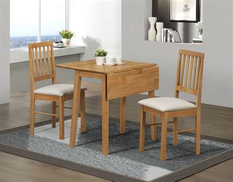 Drop Leaf Table And Chair Set Birlea Drop Leaf Dining Set Table 2 Chairs Solid Wood Oak Finish Ebay