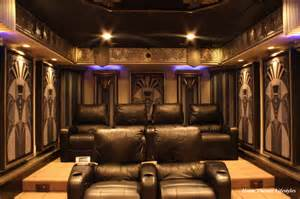 Home Theater Design New York City Art Deco Home Theater Contemporary Home Theater New