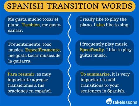 spanish transition words  boost  spanish vocabulary