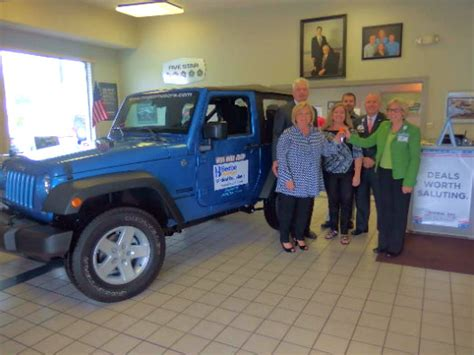 megee motors megee motors donates jeep to help cancer victims wgmd