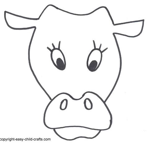printable animal masks cow 17 best images about animal templates on pinterest