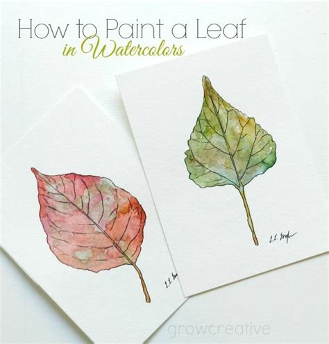 watercolor tutorial christmas how to paint a leaf in watercolors art pinterest