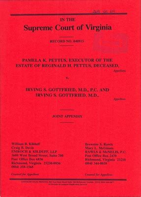 Irving Court Records Virginia Supreme Court Records Volume 269 Virginia Supreme Court Records