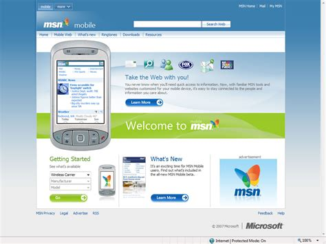 mobile msn microsoft launches new look msn for mobile phones