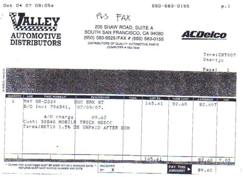 auto parts invoice valley auto parts release date price and specs