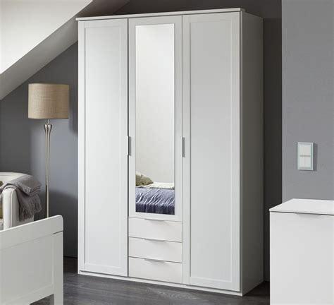 preiswerte kleiderschränke 3 t 252 riger kleiderschrank wei 223 mit schubladen und spiegel