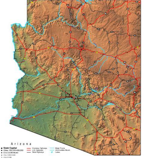 of arizona map map of the state arizona