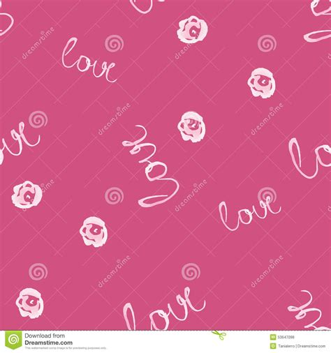 pattern background word seamless watercolor pattern with love word vector