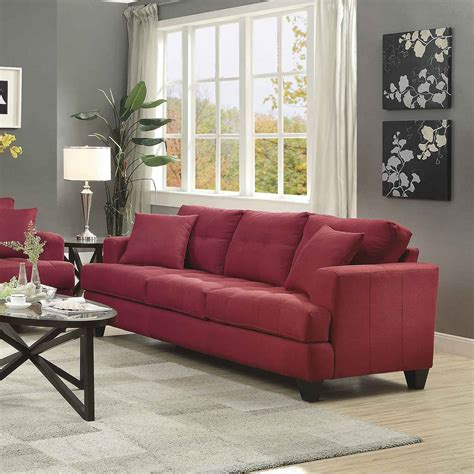 coaster samuel sofa coaster samuel sofa crimson 505185 at homelement com