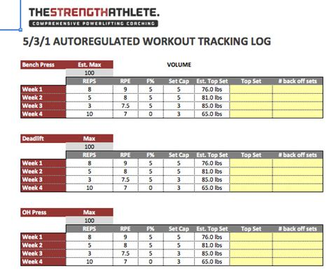 Powerlifting Workout Program Excel Blog Dandk Renaissance Periodization Template Excel