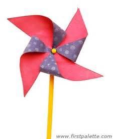 How To Make A Paper Wind Wheel - pinwheel craft on pinwheel tutorial paper
