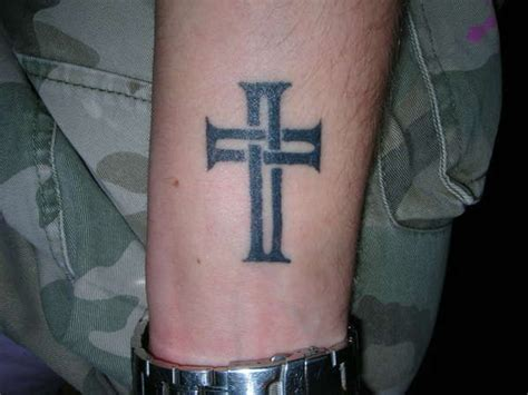cool small tattoos for guys on arm small cross tattoos collection