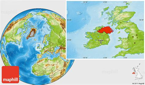 ireland physical map physical location map of northern ireland