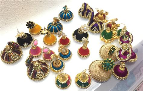 Anting Korea Multicolor Silk Thread Earrings silk thread earrings doovi