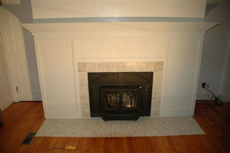 handmade custom fireplace surround tile remodel by