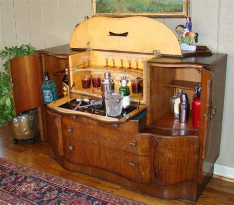 Vintage Bar Cabinet Antiques Deco And On