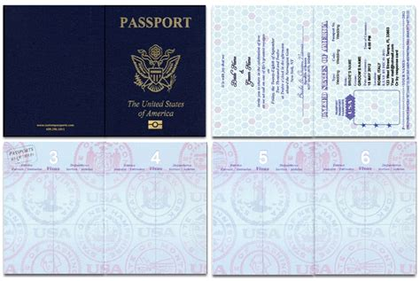 american id card template passport 46 standard passport custom passport invitations