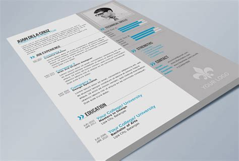 cv template indesign http webdesign14 com