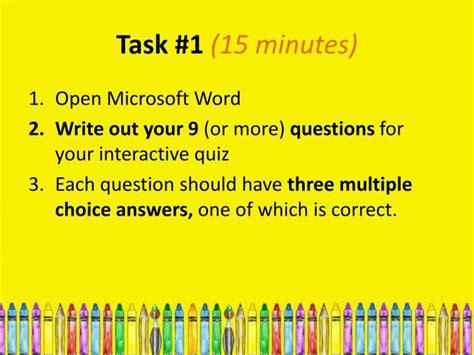 got five minutes 15 tasks that will help organize your ppt starter activity 5 minutes powerpoint presentation