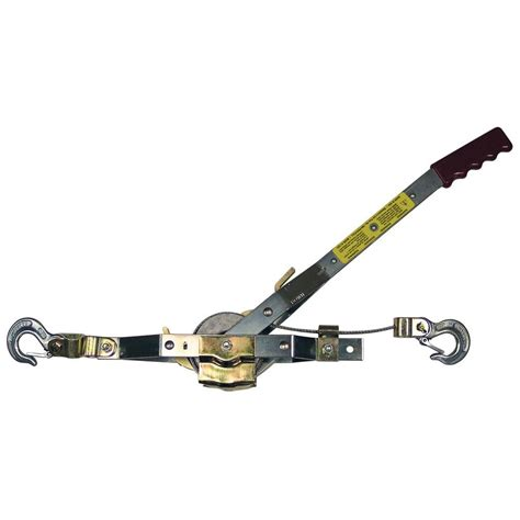 big 4 ton come along cable puller with 3 hooks tr8041