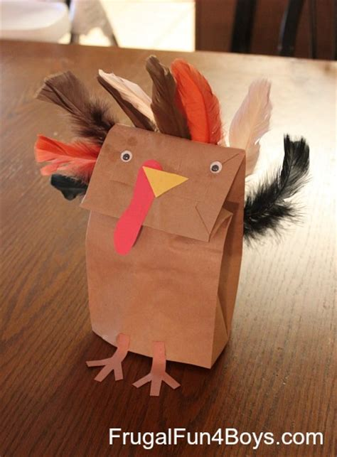 Paper Bag Turkey Craft - 10 paper bag thanksgiving crafts turkey creative chaos