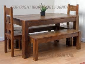 Rustic Dining Room Tables With Bench Dining Benches And Tables Rustic Dining Table With Bench Rustic Dining Room Tables Kitchen