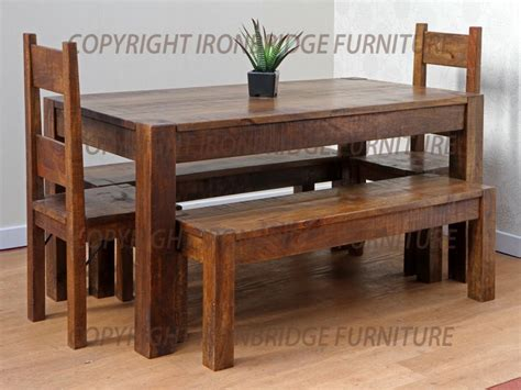 dining benches and tables rustic dining table with bench