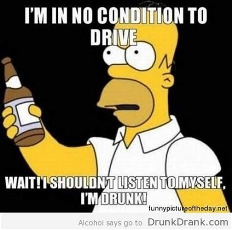 Drunk Driving Meme - homer simpson quote on drunk driving http www