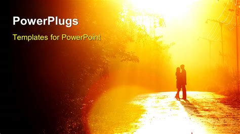 powerpoint template a couple in a romantic environment