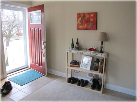 living room entryway create an entryway for a rental home the borrowed