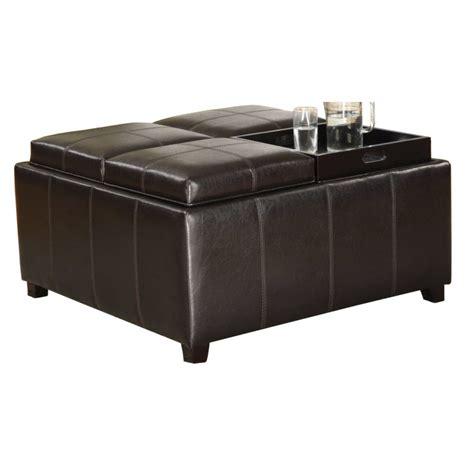 espresso ottoman waldorf espresso storage ottoman home furniture direct