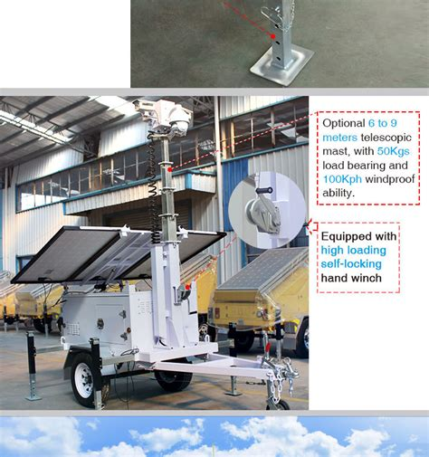 military trailer cer cctv camera solar trailer buy mobile solar trailer with