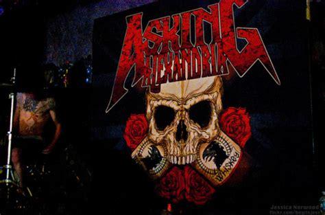 Asking Alexandria Rock Band asking alexandria band metal rock skull image