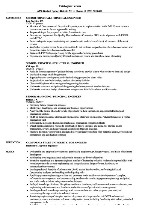 Senior Principal Engineer Cover Letter by Principal Quality Engineer Sle Resume High School Cover Letter Corrosion Specialist