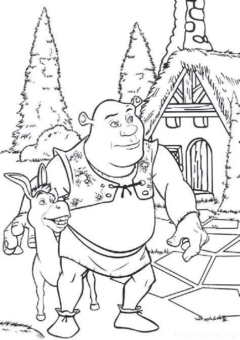 coloring pages to color free printable shrek coloring pages for kids