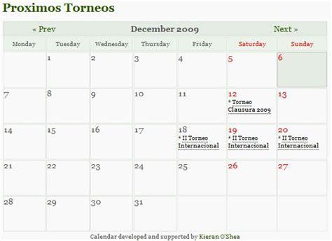 Calendario De Eventos Tener Un Calendario De Eventos En Wp Codigo