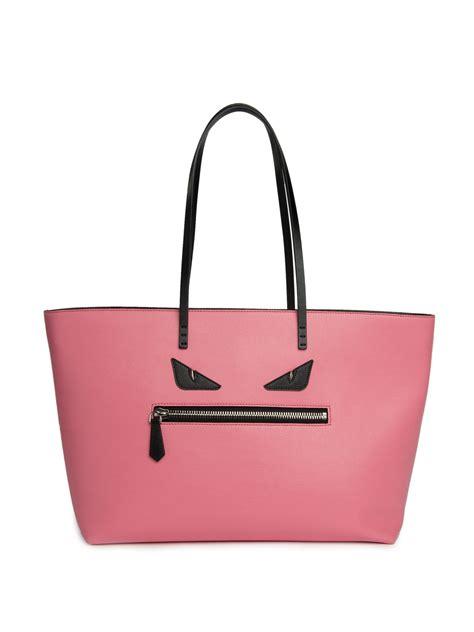 Roll Bag Pink fendi canvas leather b bag fendi handbags outlet
