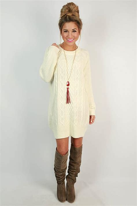 cable knit sweater dresses cozy on the slopes cable knit sweater dress in ivory