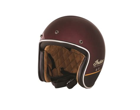Motorradhelme Retro by Indian Retro Open Face Helmet Red Indian Motorcycle